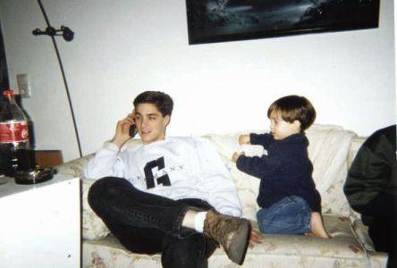 Dylan Watching Daddy Talk To Grandma